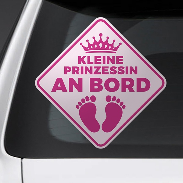 Car & Motorbike Stickers: Little princess on board - German