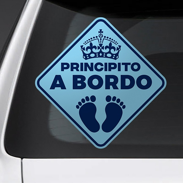 Car & Motorbike Stickers: Little prince on board - Spanish