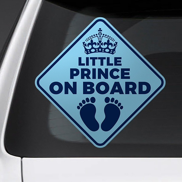 Car & Motorbike Stickers: Little prince on board