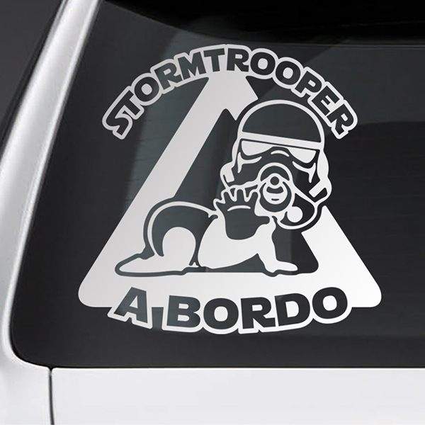 Car & Motorbike Stickers: Stormtrooper on board - Spanish