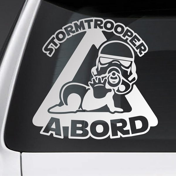 Car & Motorbike Stickers: Stormtrooper on board - Catalan
