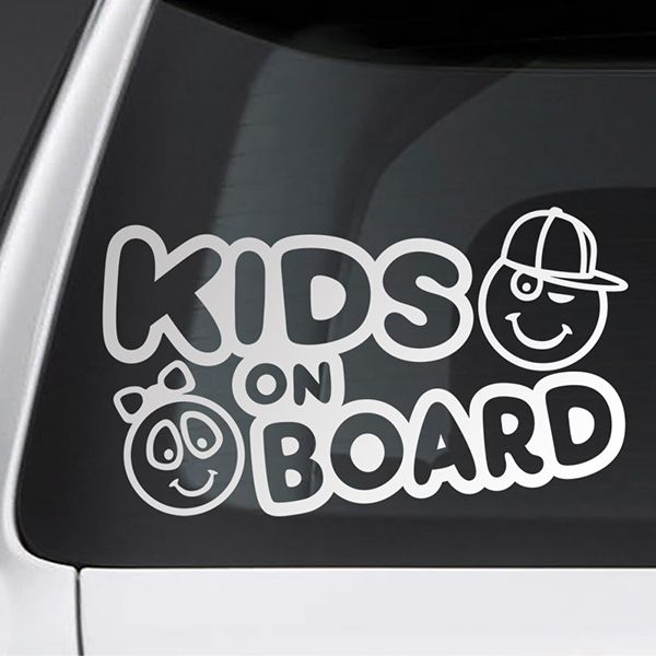 Car & Motorbike Stickers: Kids on board