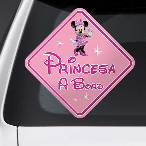 Car & Motorbike Stickers: Princess on board Disney - catalan