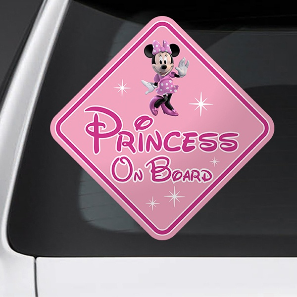 Car & Motorbike Stickers: Princess on board Disney - english