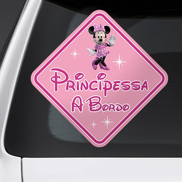 Car & Motorbike Stickers: Princess on board Disney - italian
