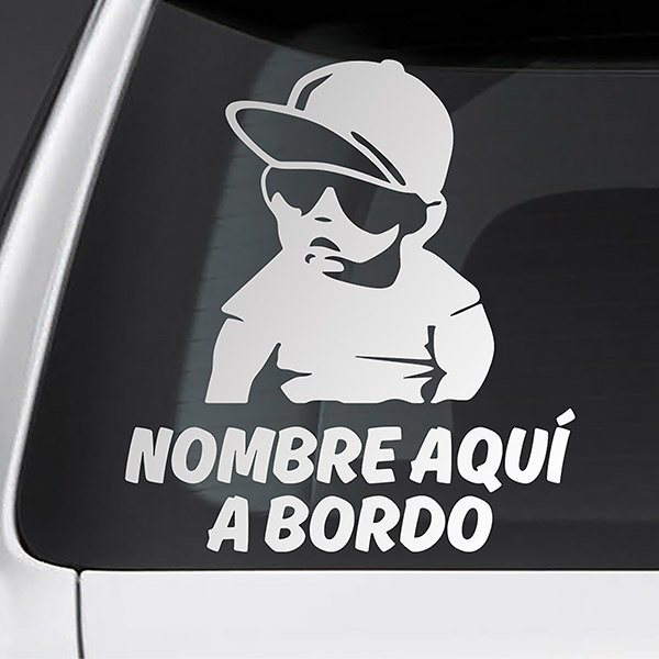 Car & Motorbike Stickers: Rapper on board personalized - spanish