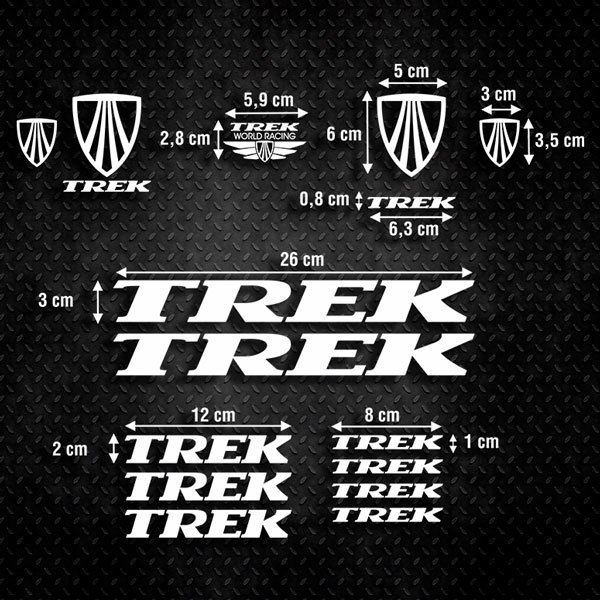 Car & Motorbike Stickers: Set 15X Bike MTB Trek Classic
