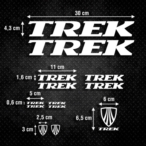 Car & Motorbike Stickers: Set 13X Bicicleta BTT Trek Special