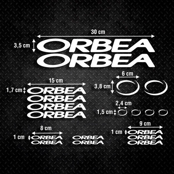 Car & Motorbike Stickers: Sticker Set 19X Bike MTB Orbea