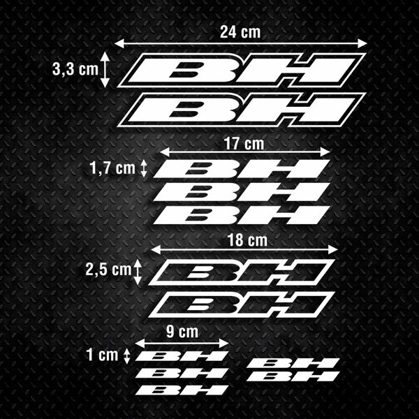 Car & Motorbike Stickers: Sticker Set 12X Bike MTB BH