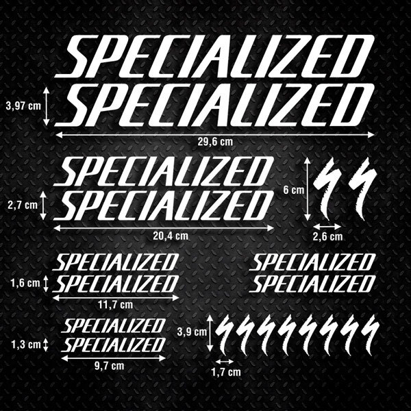 Car & Motorbike Stickers: Kit Bike MTB Specialized