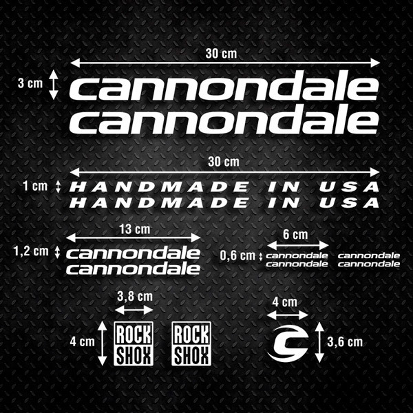 Car & Motorbike Stickers: Set 13X  Bike MTB Cannondale