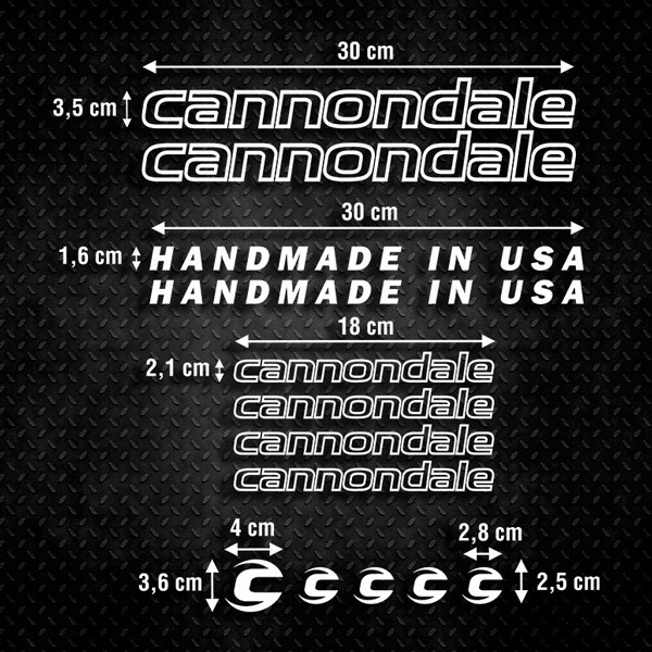 Car & Motorbike Stickers: Set 13X Bike MTB Cannondale Road