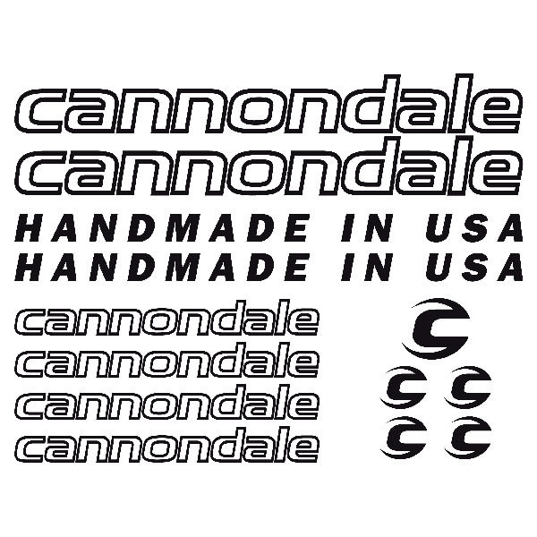 Car & Motorbike Stickers: Kit Bike MTB Cannondale Road