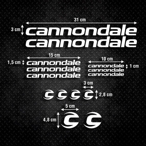 Car & Motorbike Stickers: Set 14X Bike MTB Cannondale Classic