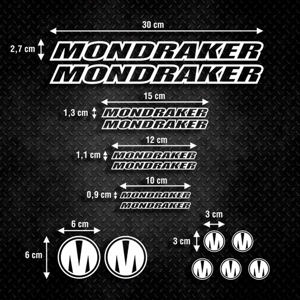 Car & Motorbike Stickers: Set 15x Bike MTB Mondraker Special