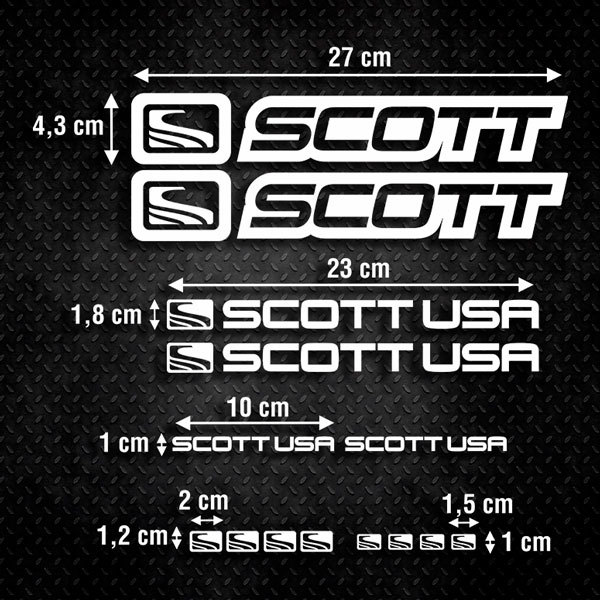 Car & Motorbike Stickers: Set 14X Bike MTB Scott Road