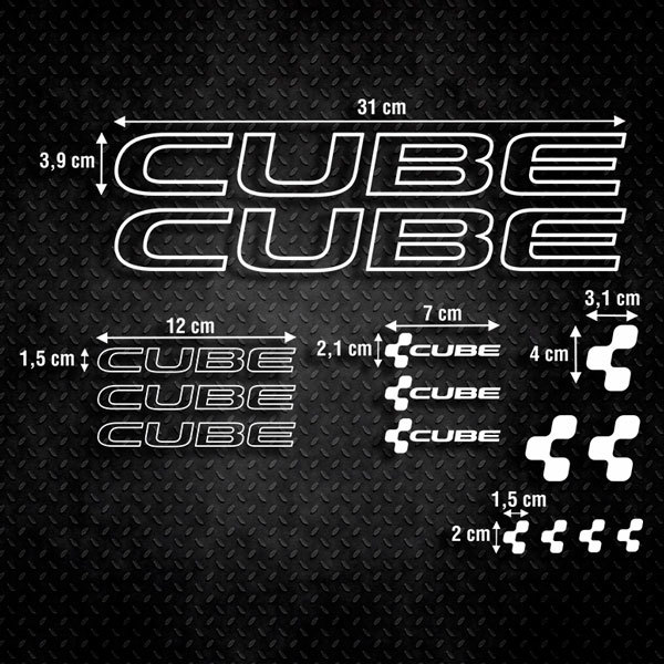Car & Motorbike Stickers: Set 15X Bike MTB Cube Special