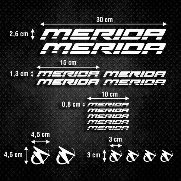 Car & Motorbike Stickers: Set 17X Bike MTB Merida Road