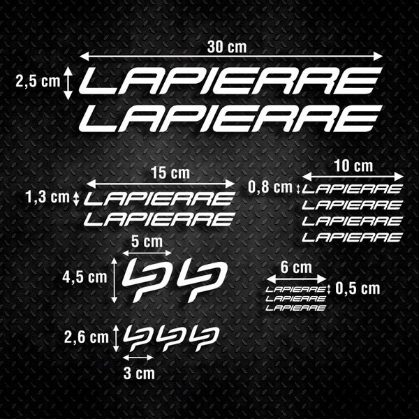 Car & Motorbike Stickers: Set 16X Bike MTB Lapierre