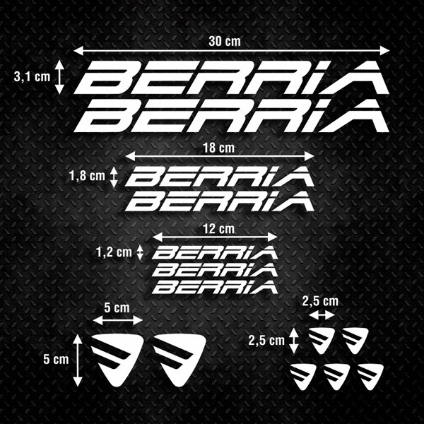 Car & Motorbike Stickers: Kit Bike Berria