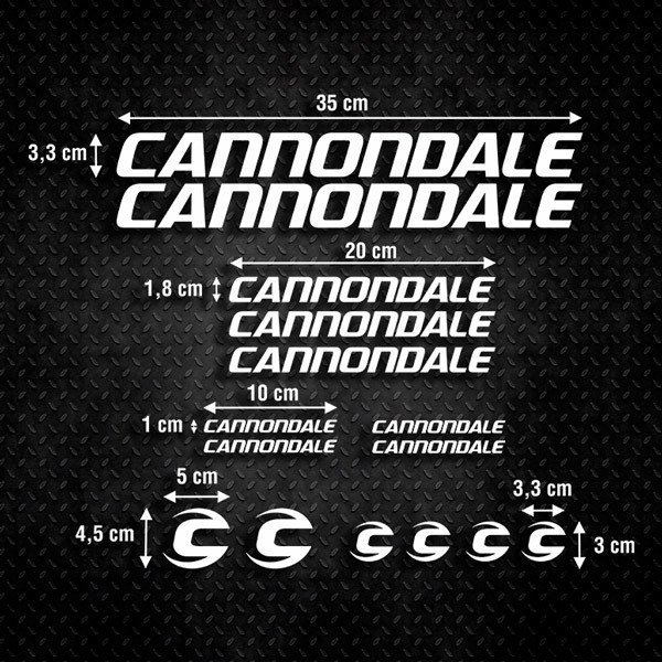 Car & Motorbike Stickers: Set 15X Bike MTB Cannondale Ultimate
