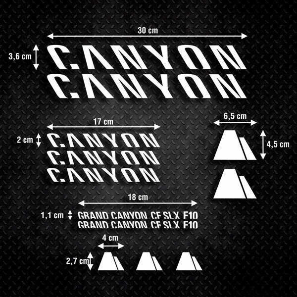 Car & Motorbike Stickers: Kit Bike MTB Canyon F10
