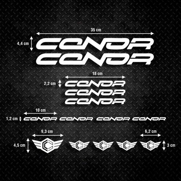 Car & Motorbike Stickers: Kit Bike MTB Conor