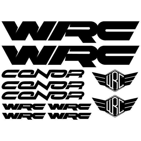Car & Motorbike Stickers: Kit Bike MTB WRC Conor