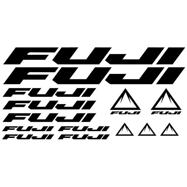 Car & Motorbike Stickers: Set 14x Bike MTB Fuji