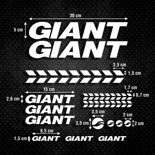 Car & Motorbike Stickers: Set 15X Bike MTB Giant Road