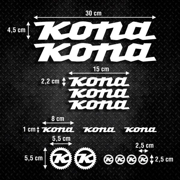Car & Motorbike Stickers: Kit Bike MTB Kona