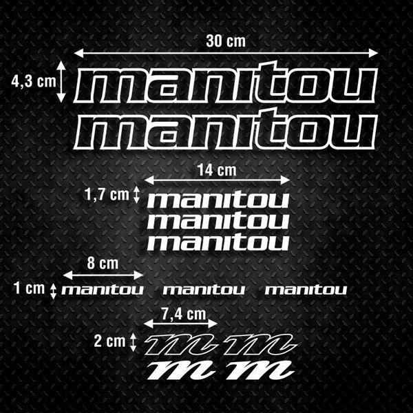 Car & Motorbike Stickers: Kit Bike MTB Manitou