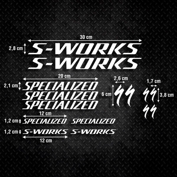 Car & Motorbike Stickers: Sticker Set 15X Bike Specialized S-Works