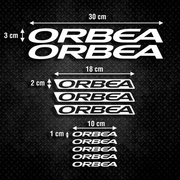 Car & Motorbike Stickers: Set 10X Bike Orbea 2018