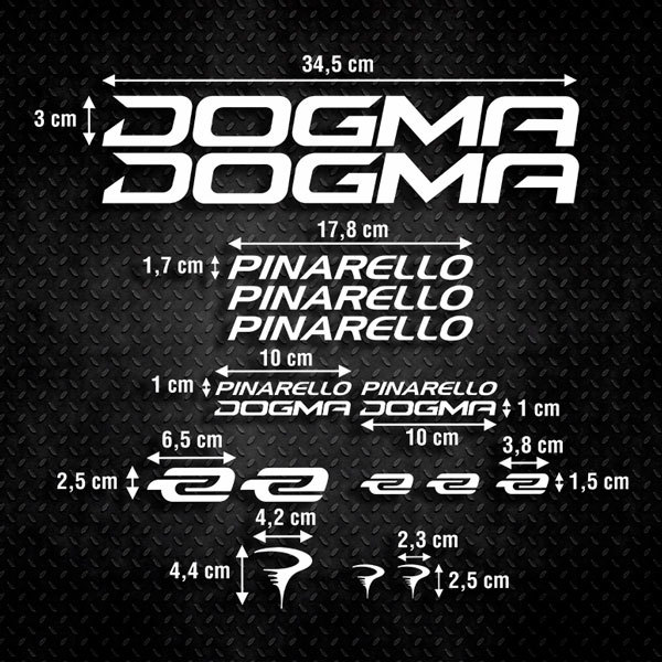 Car & Motorbike Stickers: Kit Bike Pinarello Dogma