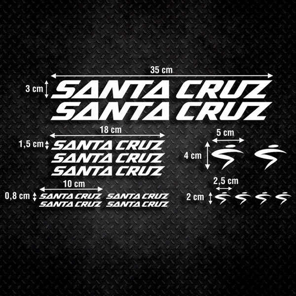 Car & Motorbike Stickers: Set 15X Bike MTB Santa Cruz