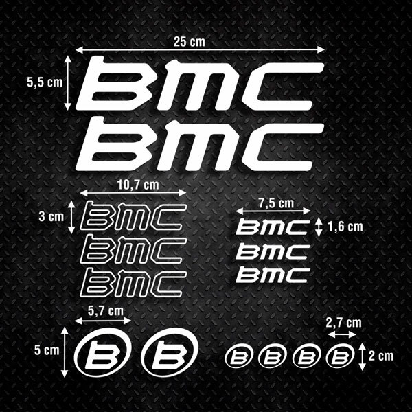 Car & Motorbike Stickers: Kit Bike BMC