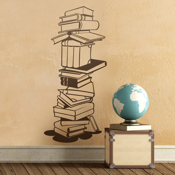 Wall Stickers: Tower of old books