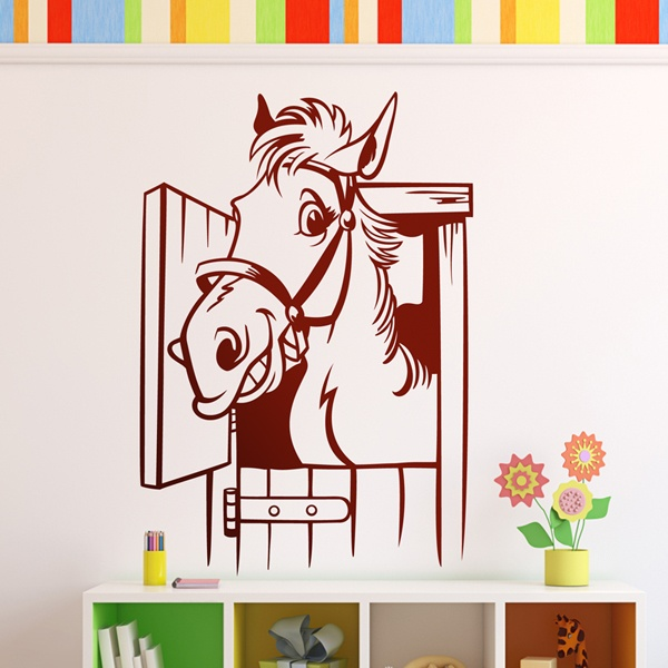 Stickers for Kids: Horse in the stable