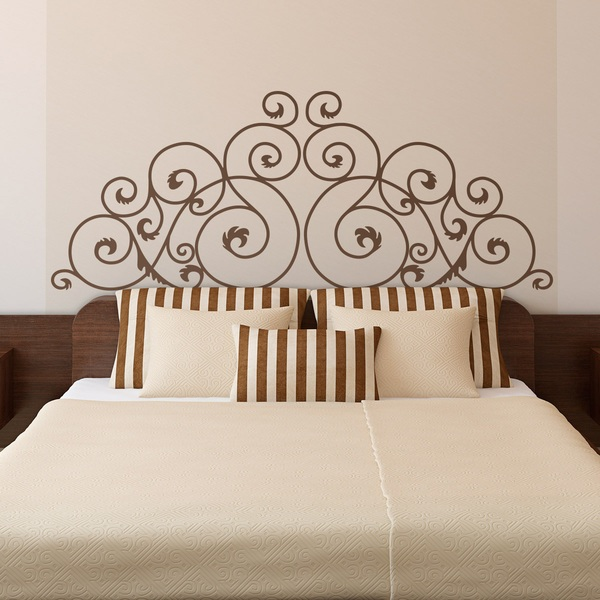 Wall Stickers: Bed Headboard Oxford