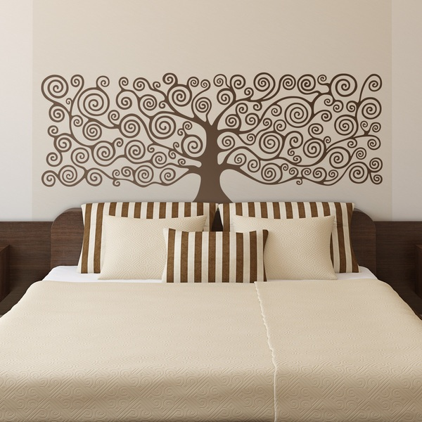 Wall Stickers: Bed headboard Tree of Life by Klimt