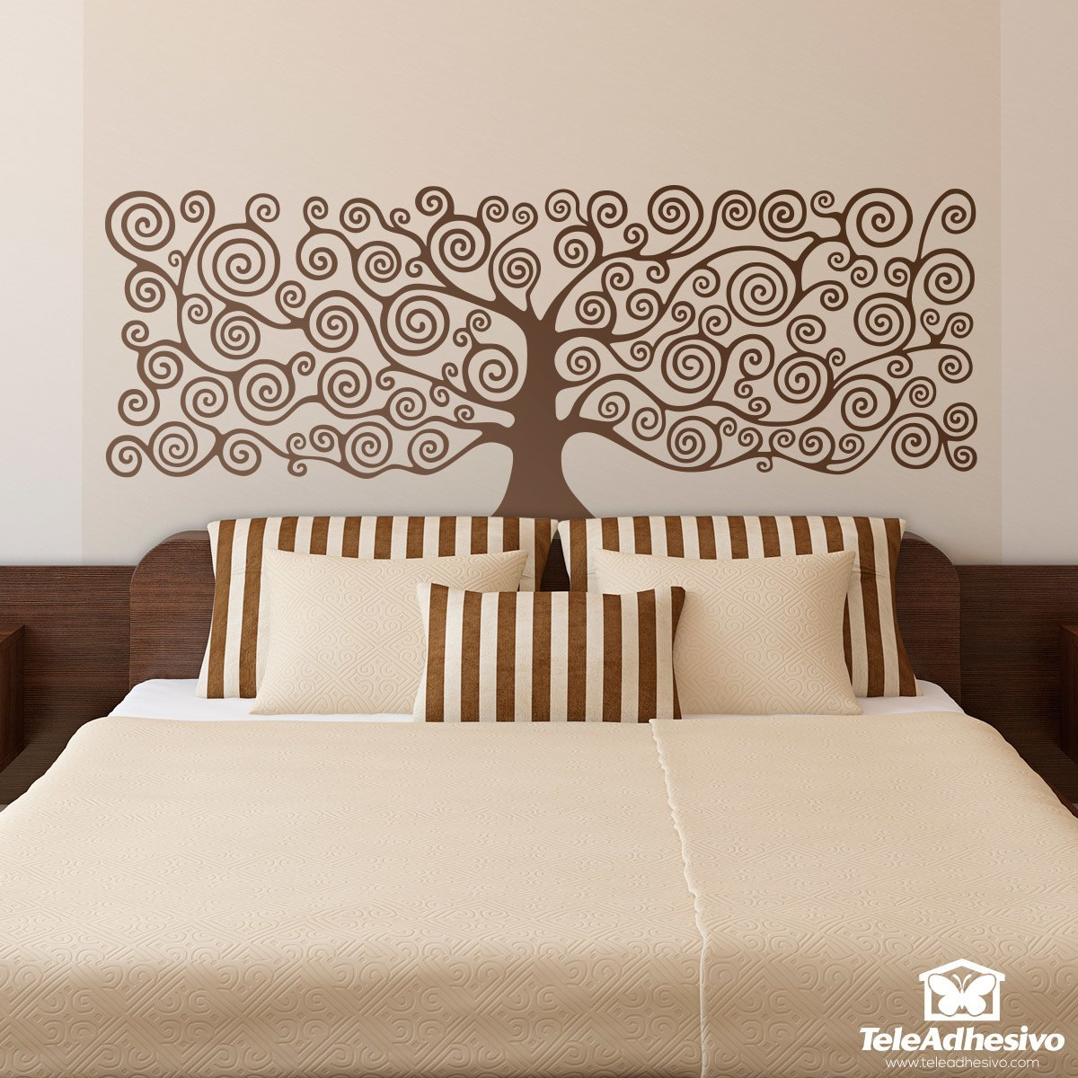 Wall Stickers: Bed Headboard Tree Of Life By Klimt Part 56