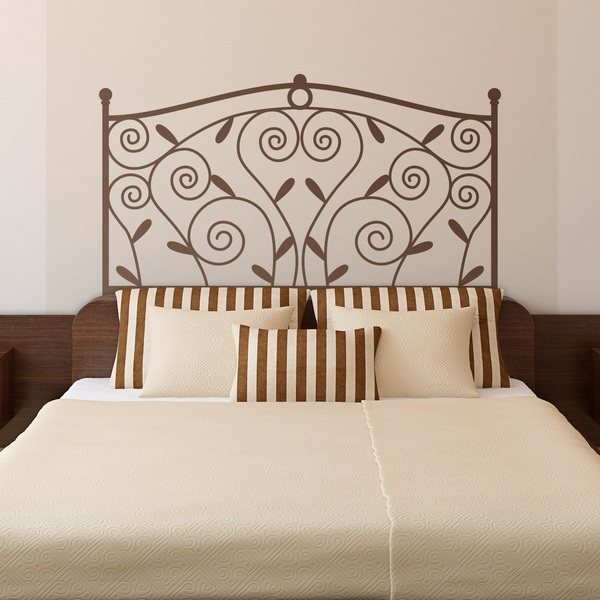 Wall Stickers: Bed Headboard Classic