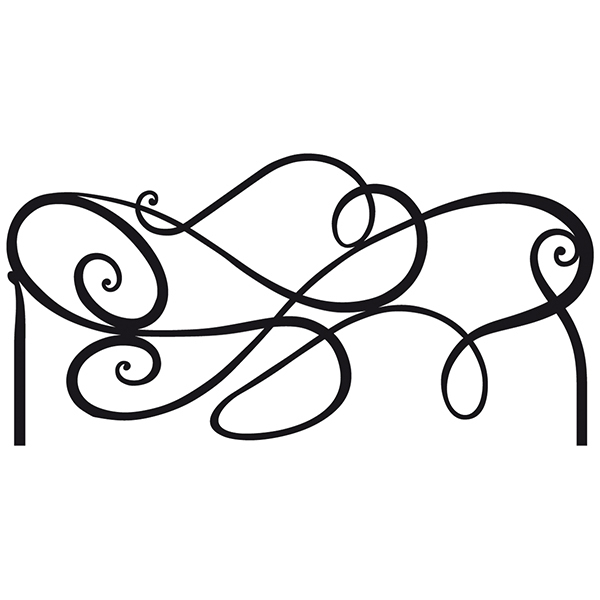 Wall Stickers: Bed Headboard Abstract
