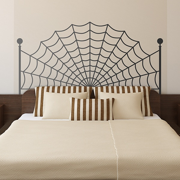 Wall Stickers: Bed Headboard Spider Cloth