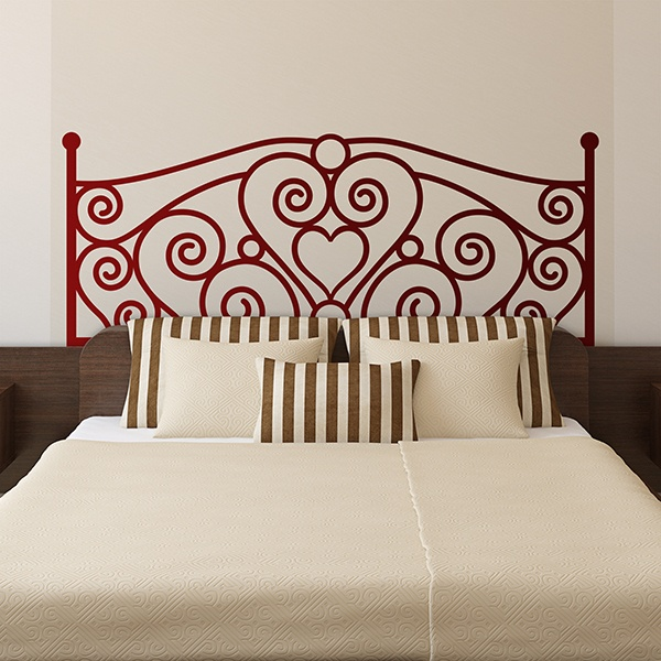 Wall Stickers: Bed Headboard Love