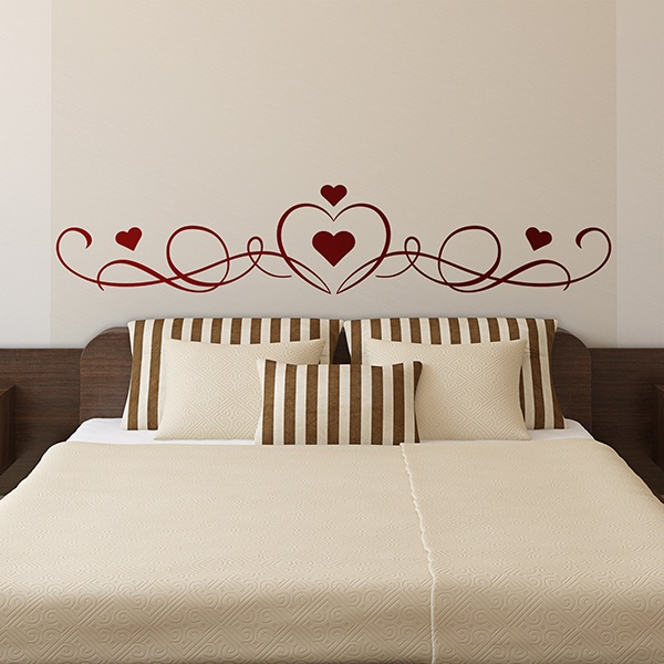 Wall Stickers: Headboard of Hearts