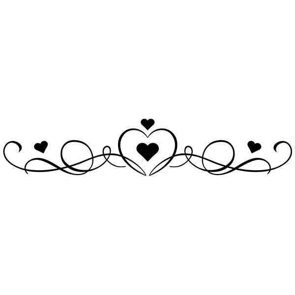 Wall Stickers: Bed Headboard of hearts