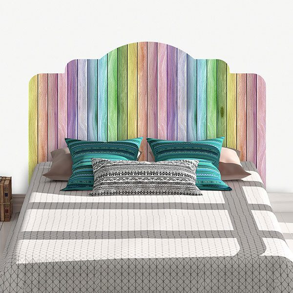 Wall Stickers: Rainbow Headboard